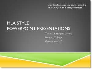 mla style holgate library research guides