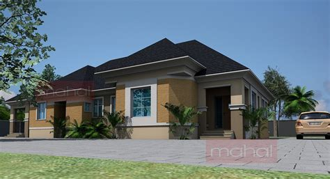 Contemporary Nigerian Residential Architecture 4 Bedroom 4 Bedroom Bungalow Architectural Design