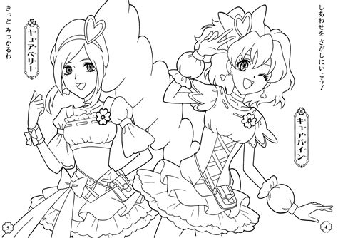 precure 5 colouring pages page 2