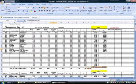 excel payroll template best photos of excel payroll spreadsheet free excel