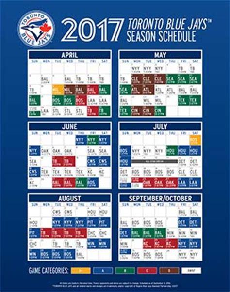 printable schedule toronto blue jays printable regular season schedule bluejays com schedule