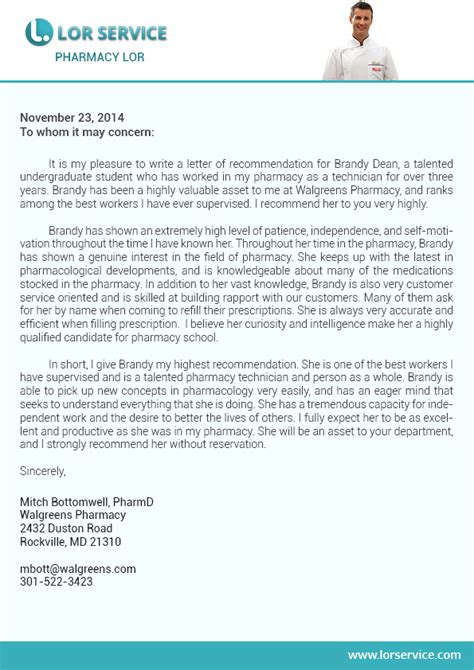 Albany College Of Pharmacy Letter Of Recommendation recommendation letter for pharmacy student sle cover