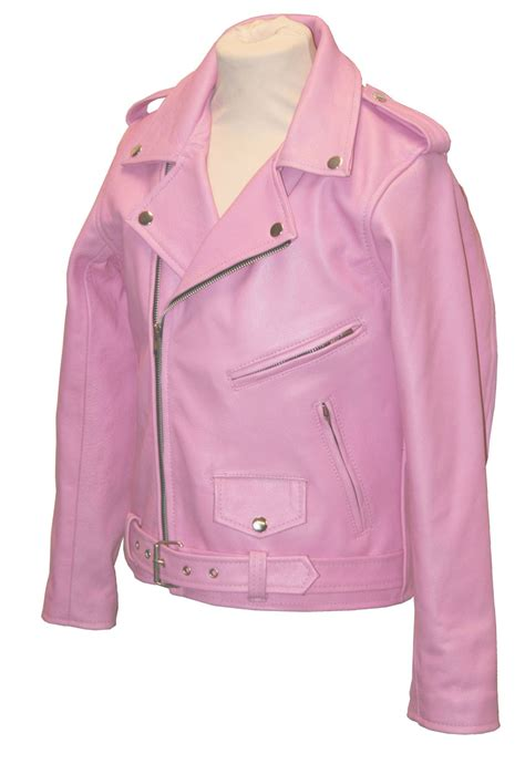 pink leather motorcycle jacket childrens brando pink leather motorcycle jacket