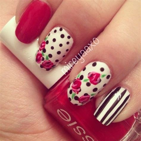 imagenes de uñas decoradas largas 2015 unas decoradas con flores 10 u 241 as pinterest