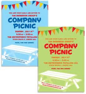 free company invitation templates summer picnic custom