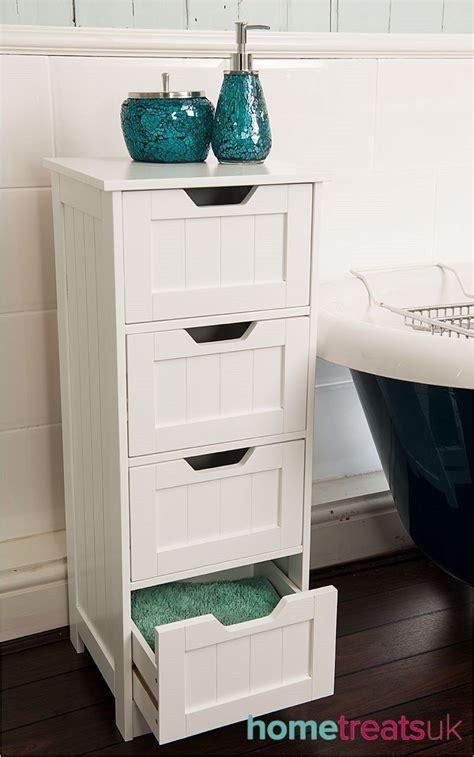 White Freestanding Bathroom Storage by White Freestanding Bathroom Cabinet 4 Drawer Storage