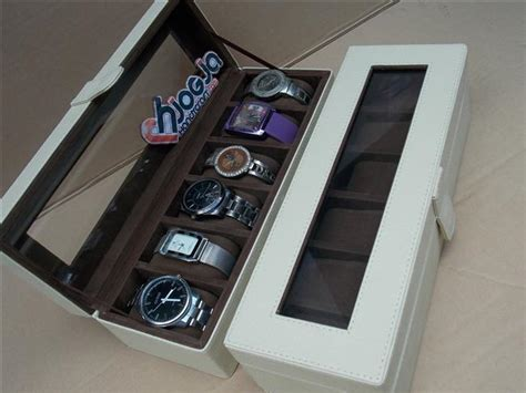 White Box Jam Tangan by Brocken White Box For 6 Watches Tempat Jam Tangan