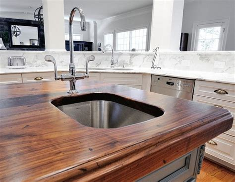 heritage wood island in black walnut modern kitchen 99 best images about butcher block countertops on
