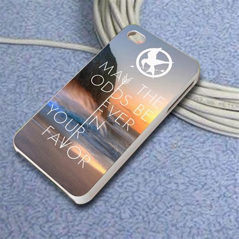 Hunger Quote F0744 Casing Iphone 7 Custom Cover 2 hunger quote may the odds be in your favor for iphone 4 4s iphone 5 5s