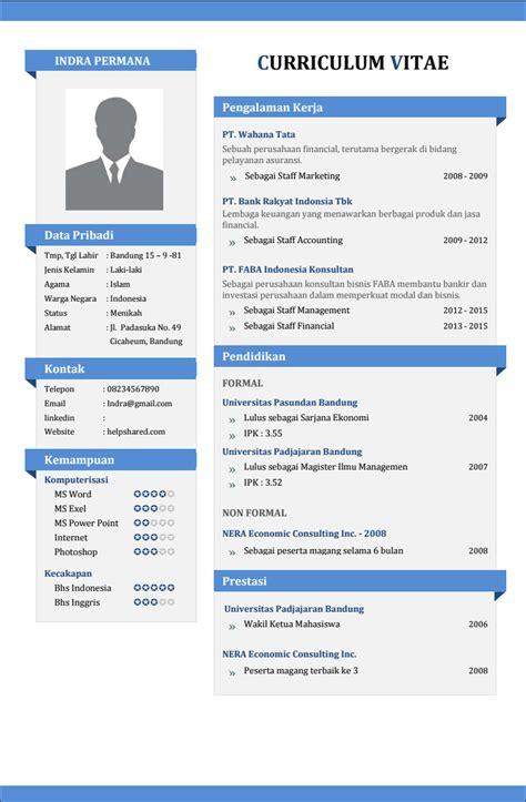 cara membuat resume bergambar contoh cv lamaran kerja yang menarik agar diterima