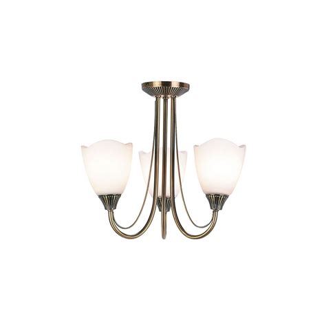 Range Ceiling Lights 601 Range 601 3an Semi Flush 3 Light Ceiling