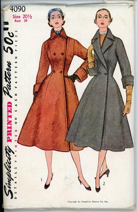 simple vintage pattern simplicity 4090 b vintage sewing patterns sewing