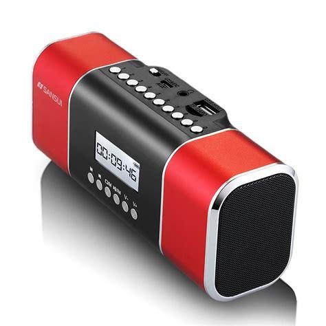 Speaker Mini Sansui sansui d11 mini stereo portable radio card with mp3