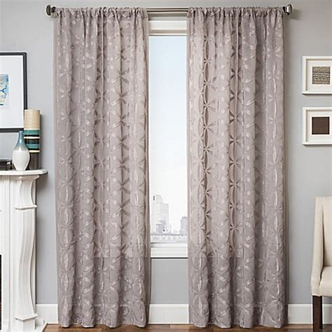 96 inch grey curtains buy celestia 96 inch window curtain panel in light grey