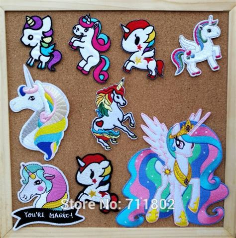 aliexpress unicorn aliexpress com buy unicorn iron on patches rainbow cloth