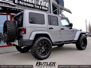 jeep wrangler with 20in black rhino glamis wheels a