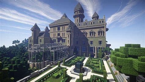 great gatsby mansion minecraft project 建筑地图 manor of the great gatsby 了不起的盖茨比庄园 minecraft中文下载站