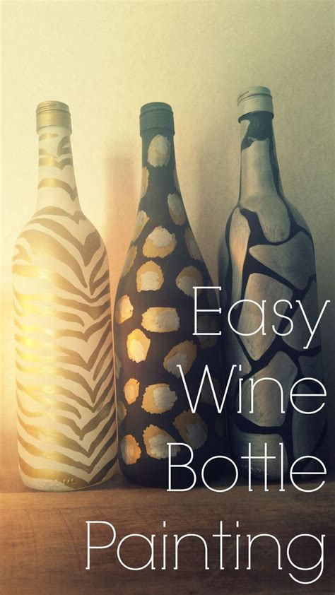 wine bottle ls crafts easy wine bottle painting tons of fun to do with the