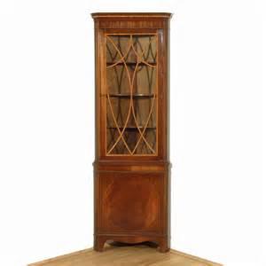 Vintage Corner Curio Cabinet Vintage Mahogany Corner Bookcase Curio Cabinet W