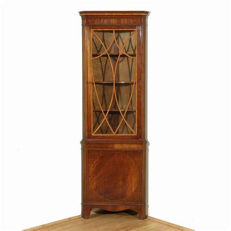 small corner curio cabinet vintage flame mahogany corner bookcase curio cabinet w