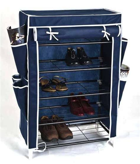 The Rack Asia by Portable Foldable Four Layer Combination Shoe Rack