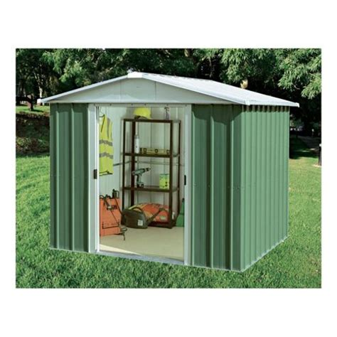 buy yardmaster apex metal shed with floor support frame