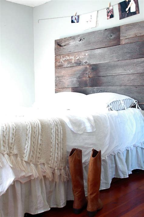 diy barnwood headboard 13 diy headboards made from repurposed wood