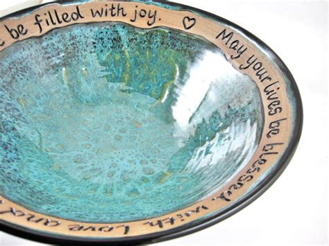 Wedding Blessing Bowl clay baskets and woven baskets on