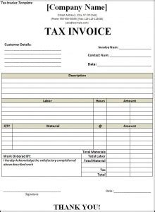 Create A Template Inputting Receipts by Tax Invoice Format Free Word S Templates