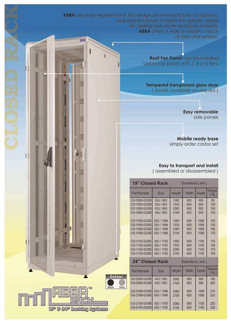 Jual Aksesoris Rak Server jual harga abba rack server paket 19 inch 20u depth