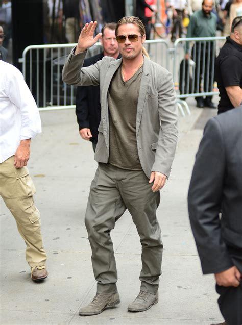 Brad Pitt Wardrobe by Brad Pitt Really Really His Monochromatic