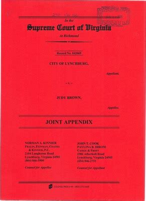 Lynchburg Court Records Virginia Supreme Court Records Volume 270 Virginia Supreme Court Records