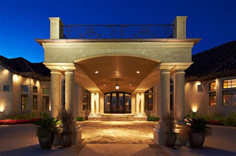 Home Design Firms by Porte Cochere Mediterranean Exterior Other Metro