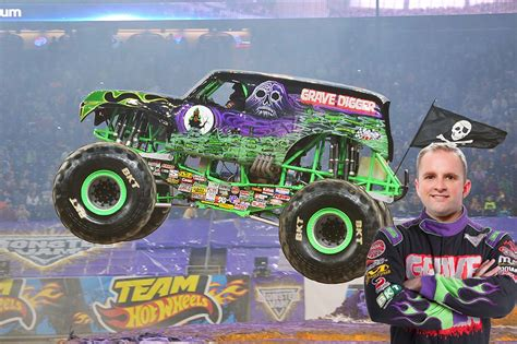 who drives grave digger truck drivers jam