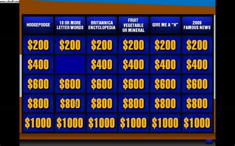 jeopardy board template powerpoint jeopardy template beepmunk