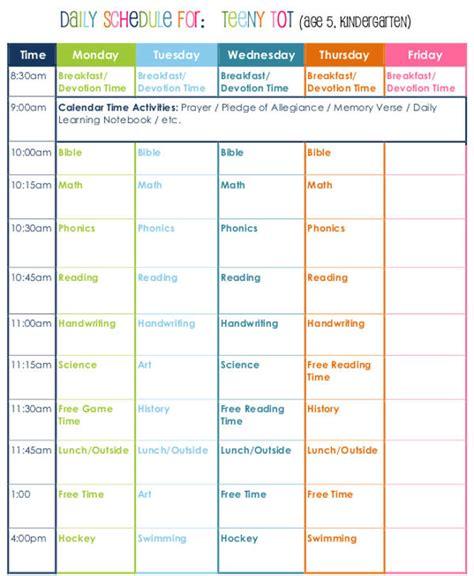 homeschool lesson plan template excel homeschool schedule template template schedule printable
