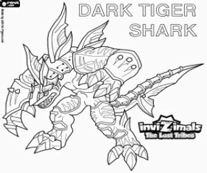 invizimals tiger shark coloring page juegos de invizimals las tribus perdidas para colorear