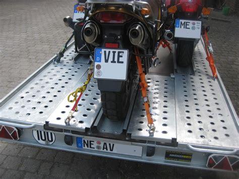 Motorrad Transporter Moto 1 by Motorradanh 228 Nger Transporter F 252 R 3 Motorr 228 Der Ankippbar