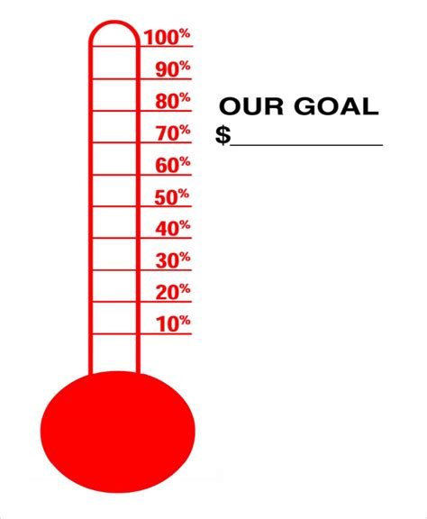 fundraising meter template sle thermometer template 9 free documents