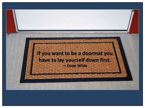don t be a books don t be a doormat