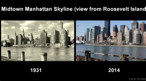new year nyc today here is a side by side of new york city from 100 years ago