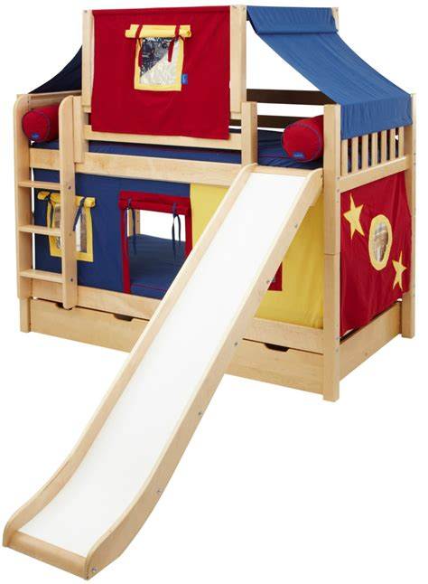 slide bed bunk beds with a slide maxtrix low bunk bed w angled