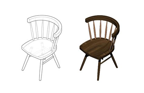 Isometric Drawing Chair by Small Object Design To Reality One Colin