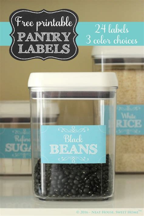 free printable pantry labels neat house sweet home�