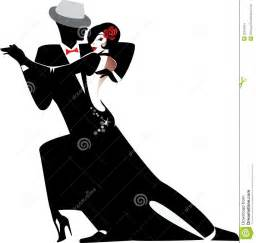 silhouette of couple dancing tango stock images image