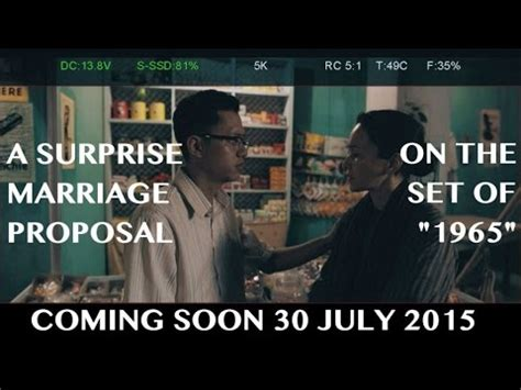 film barat coming soon 2015 sezairi a surprise marriage proposal on the set of quot 1965