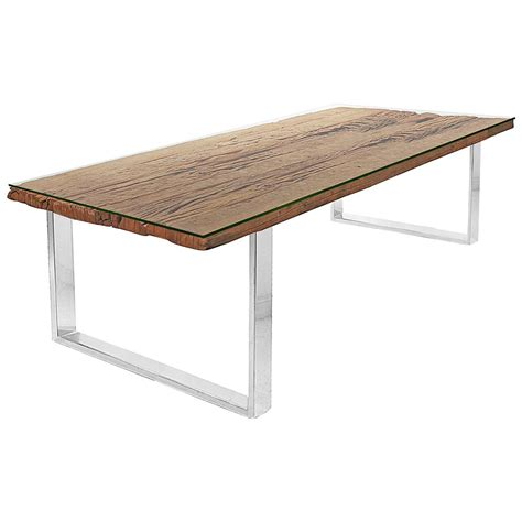Glass Steel Dining Table Buck Rustic Lodge Reclaimed Wood Glass Steel Dining Table Kathy Kuo Home