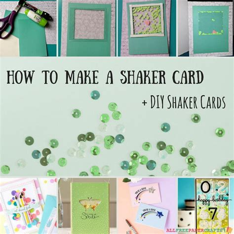 how to make card how to make a shaker card 5 diy shaker cards
