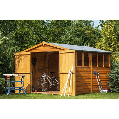 Garden Sheds 10 X 8 10 X 8 Overlap Apex Dip Treated Garden Shed 10mm Solid