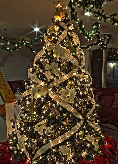 ribbon xmas tree design 25 creative and beautiful tree decorating ideas amazing diy interior home design